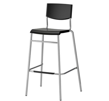 Black Bar Stool Image