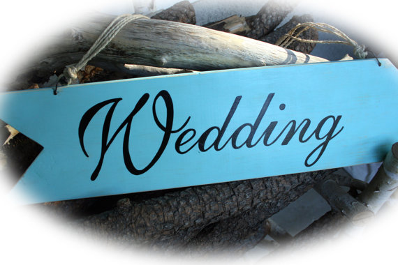Wedding Sign - Blue Image
