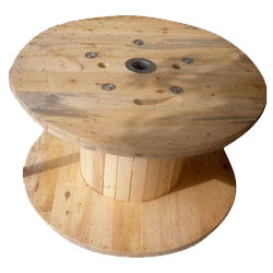 Large Wooden Spool Image
