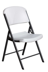 folding chair rental with contoured seats