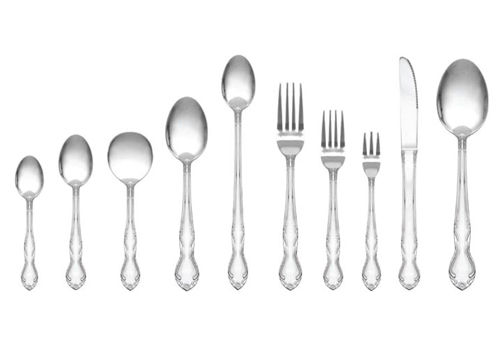 Rose Pattern Flatware Image
