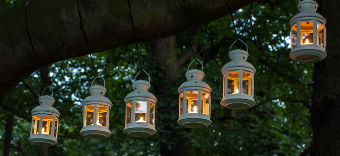 Tea Lights in Lanterns