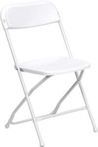 plastic folding chair rental