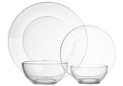 Clear Glass Dishware Image