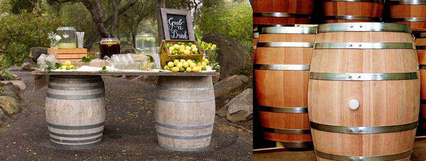 whiskey-barrels-wedding-decor