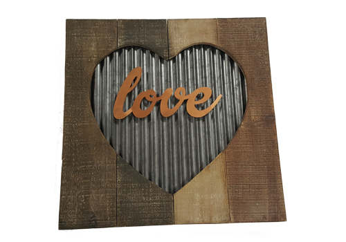 Rustic Sign - Love in Heart Image