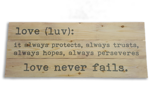 Rustic Sign - Love Defined Image